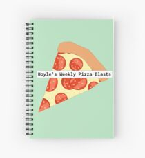 Boyle's Weekly Pizza Blasts Spiral Notebook