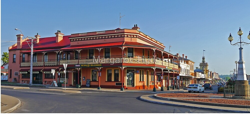 Great Central Hotel, Glen Innes, N.S.W., Australia (Panorama) by Margaret  Hyde