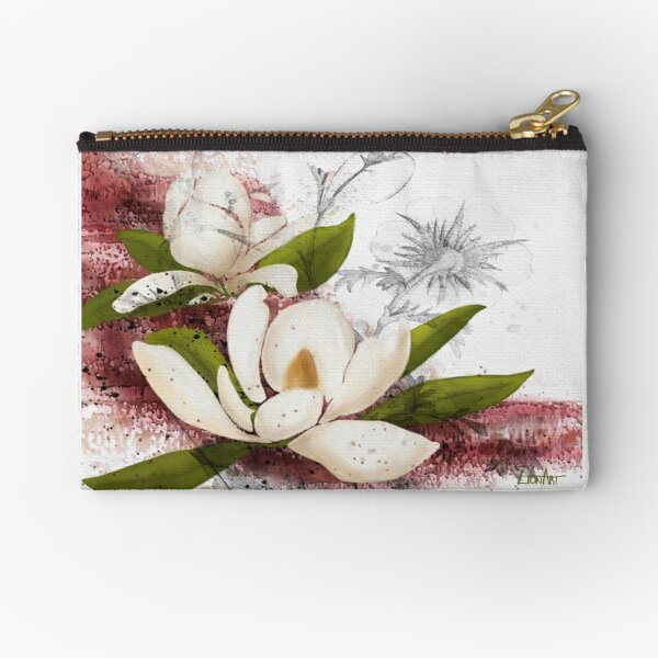Magnolia in my head Zipper Pouch