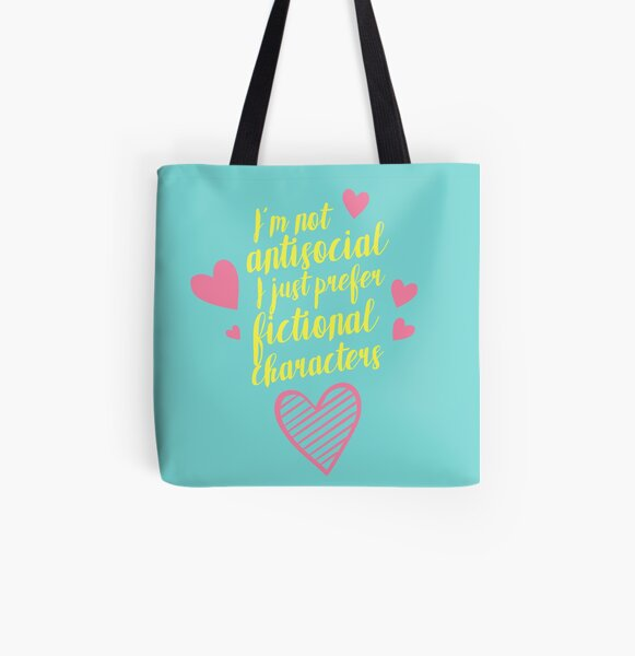 NOT ANTISOCIAL All Over Print Tote Bag
