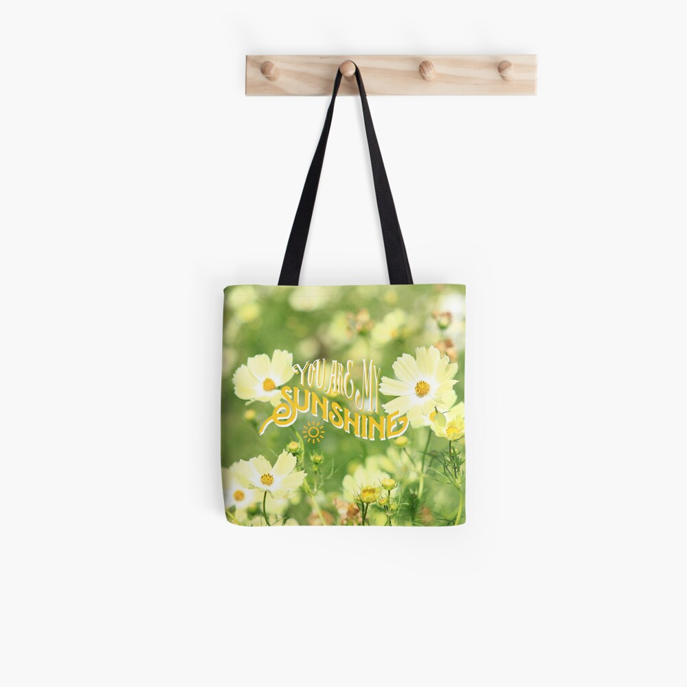 You Are My Sunshine Pretty Yellow Cosmos Flowers Tote Bag