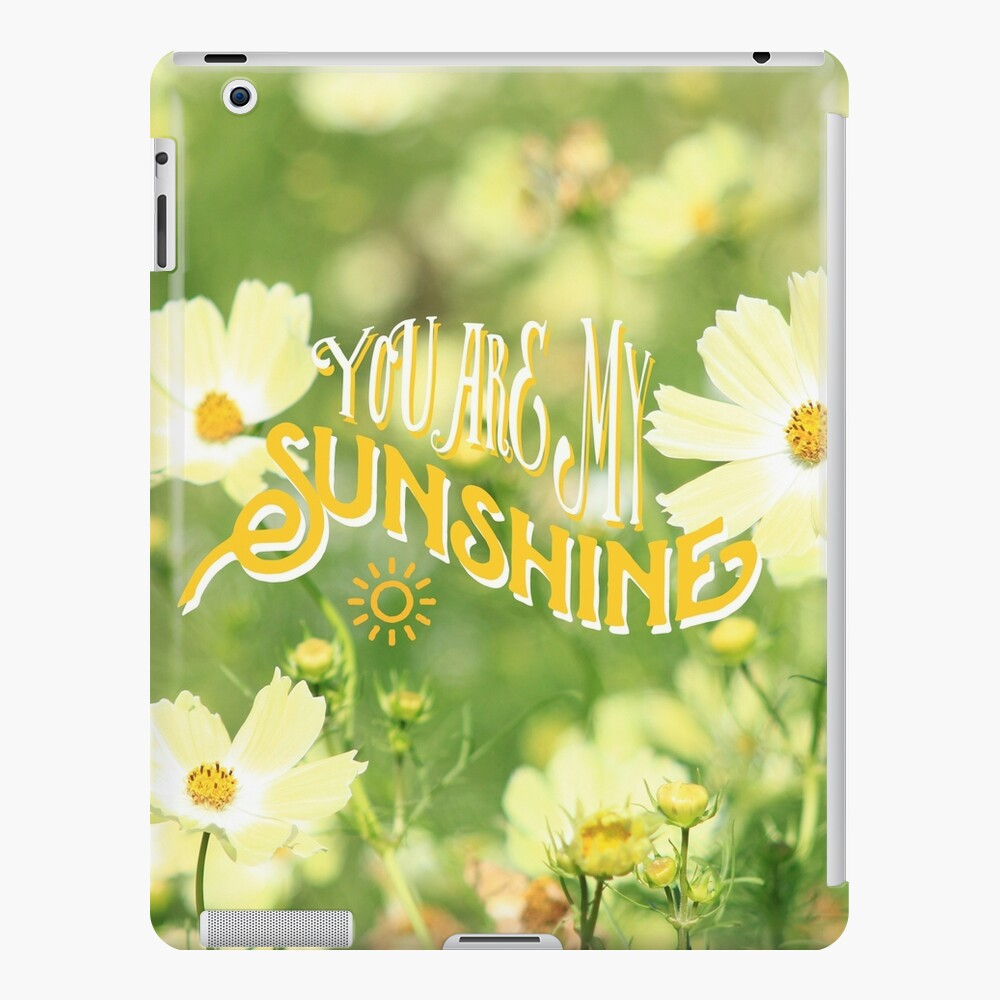 You Are My Sunshine Pretty Yellow Cosmos Flowers iPad Case & Skin