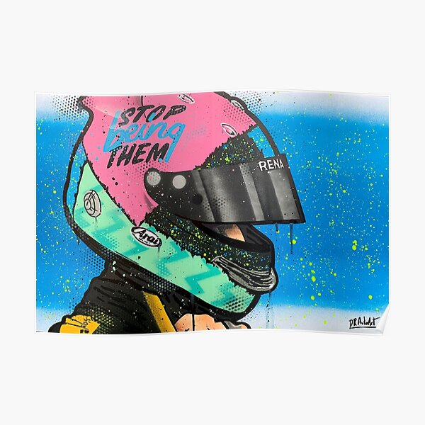Daniel Ricciardo - Renault F1 graffiti painting by DRAutoArt Poster
