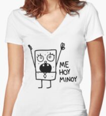 Spongebob: Doodlebob Women's Fitted V-Neck T-Shirt