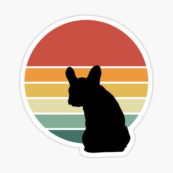 French bulldog lovers, frenchie mon, frenchie dad, frenchie on vintage sun Sticker