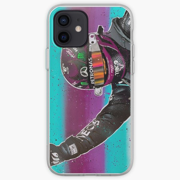 Lewis Hamilton 2020 F1 graffiti painting by DRAutoArt iPhone Soft Case