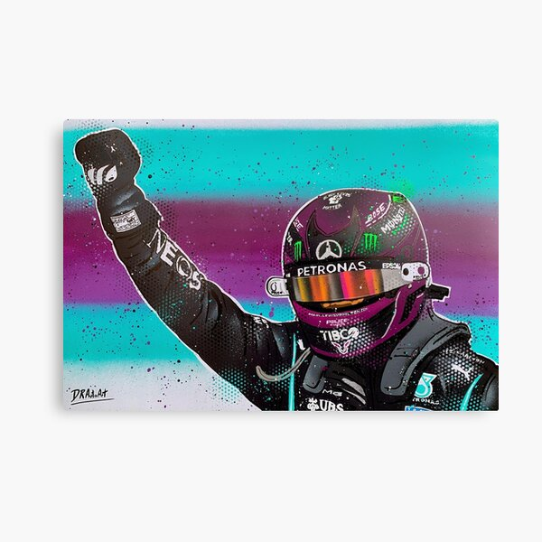Lewis Hamilton 2020 F1 graffiti painting by DRAutoArt Canvas Print