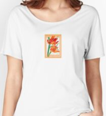 Birthday Wishes - Parrot Tulips Women's Relaxed Fit T-Shirt