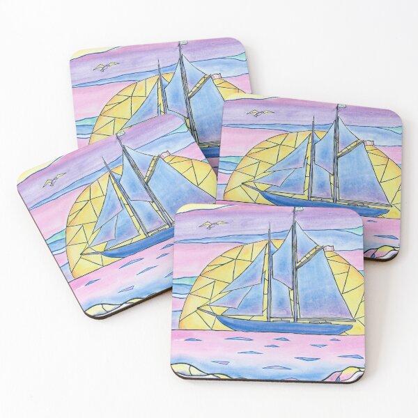 Come Sail Away Coasters (Set of 4)