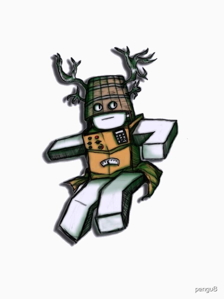 Cardboard Robot Deer Bucket Blox Womens Fitted Scoop T Shirt By