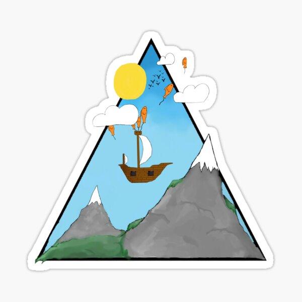 Triangle World Sticker