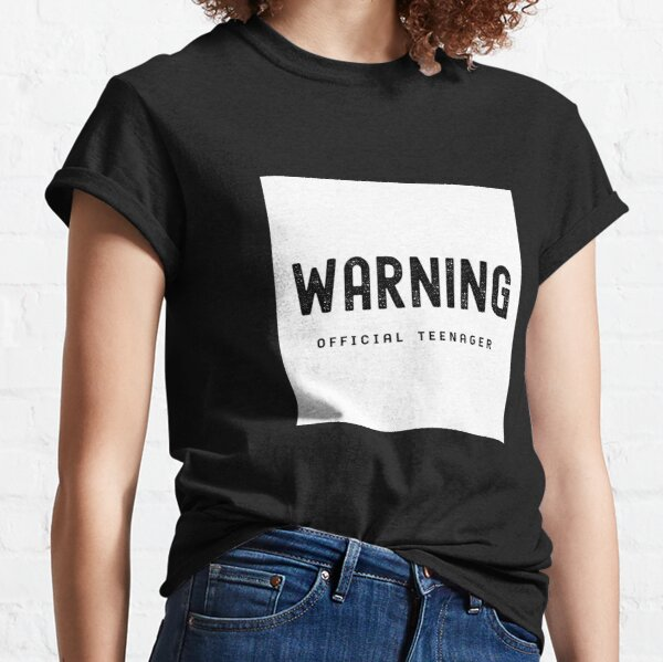 Warning Official Teenager 13th Birthday Gift T-Shirt Classic T-Shirt