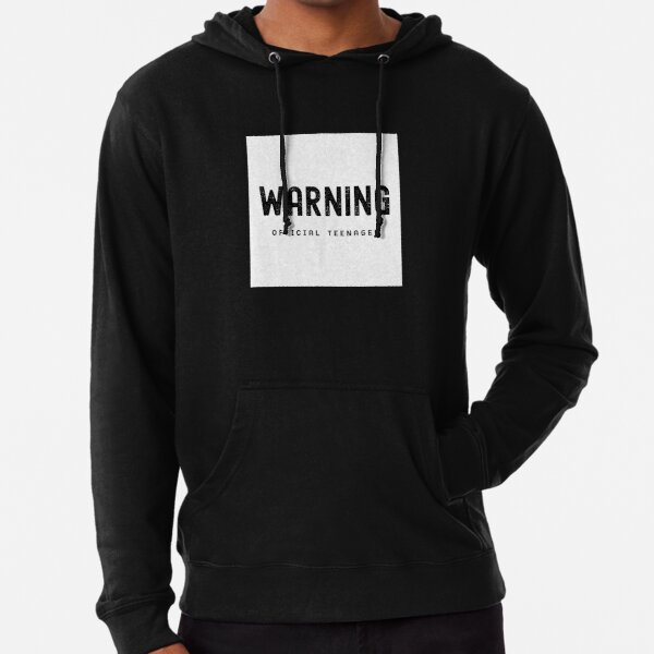 Warning Official Teenager 13th Birthday Gift T-Shirt Lightweight Hoodie