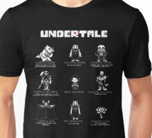 Undertale Character Funny Unisex T-Shirt