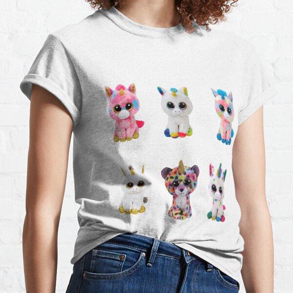 Cute beanie boo unicorns together for kids Classic T-Shirt