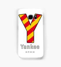 Y = Yankee Samsung Galaxy Case/Skin