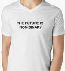 Camiseta para hombre de cuello en v El futuro no es binario