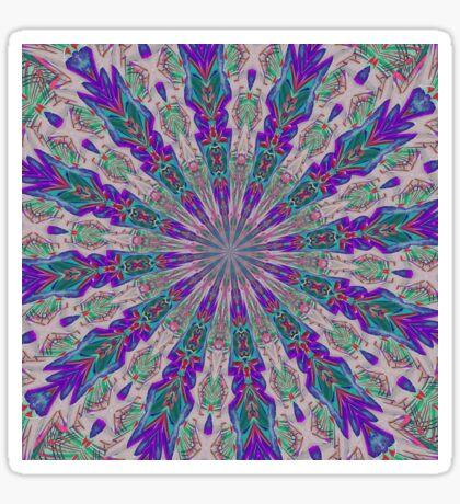 Totem Kaleidoscope In Purple Red and Jade Sticker