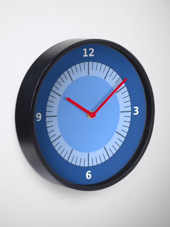 Alternate view of Blue Clock Pattern with No hands Clock