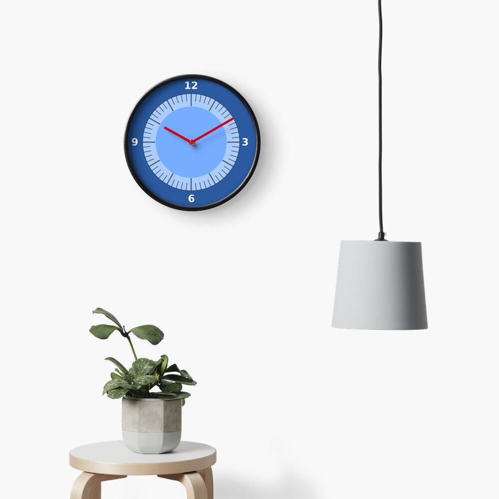 Blue Clock Pattern with No hands Clock
