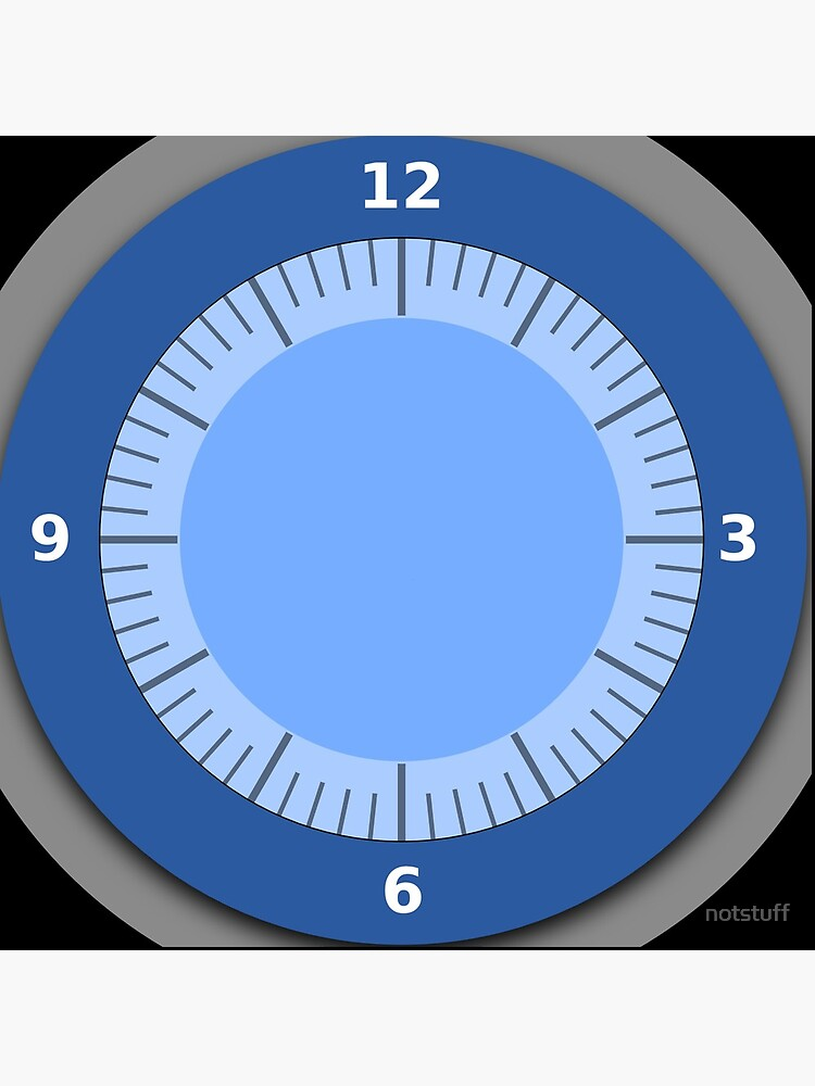 Blue Clock Pattern with No hands by notstuff