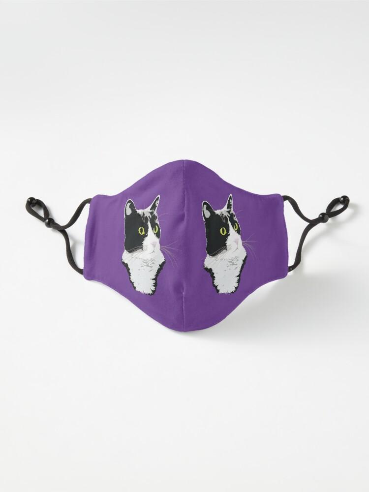 Alternate view of Regal Tuxedo Kitty Mask