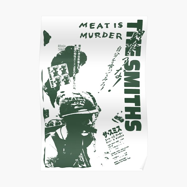 The Smiths - Meat is Murder (japonais) (variante verte) Poster