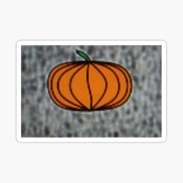 Pumpkin Orange and Black with Green Sticker