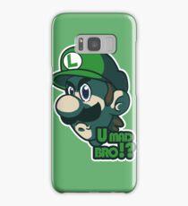 U mad bro!? Luigi Samsung Galaxy Case/Skin