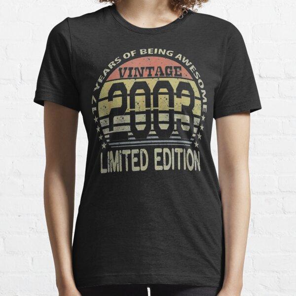Regalos de 17 años Vintage 2003 Edición limitada 17 ° cumpleaños Camiseta esencial