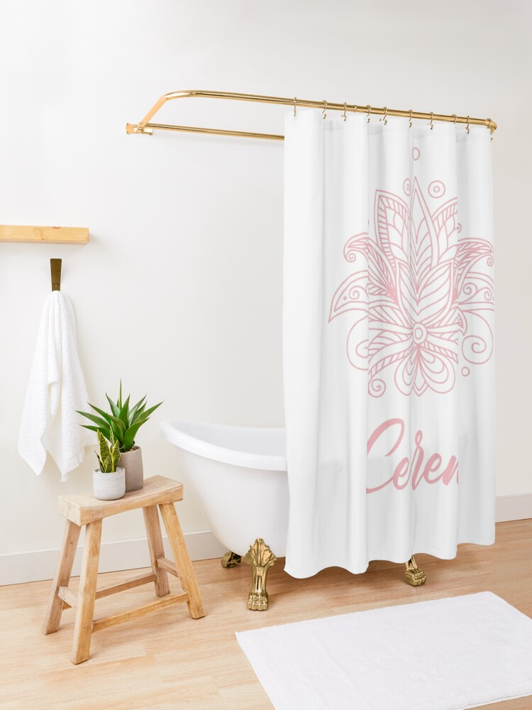 Alternate view of Ceren Shower Curtain