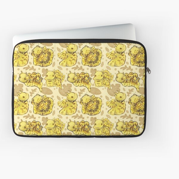 "Autumn Yellow ""Notodoris Minor"" Nudibranchs Sea Slug Pattern Laptop Sleeve"