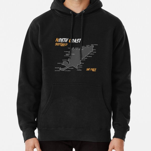 North Coast 500 Route Map| Scotland | NC500 | 516 Miles  Pullover Hoodie