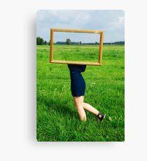 Surrealistic picture frame Canvas Print