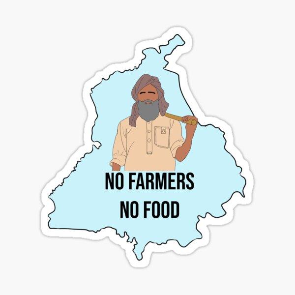 No Farmers No Food Sticker