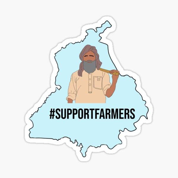 Support Punjab Farmers Sticker
