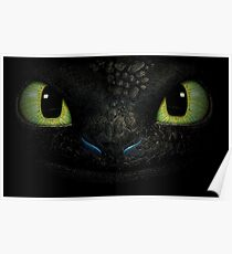Awesome dragon face. Transparent vectorial design. Poster