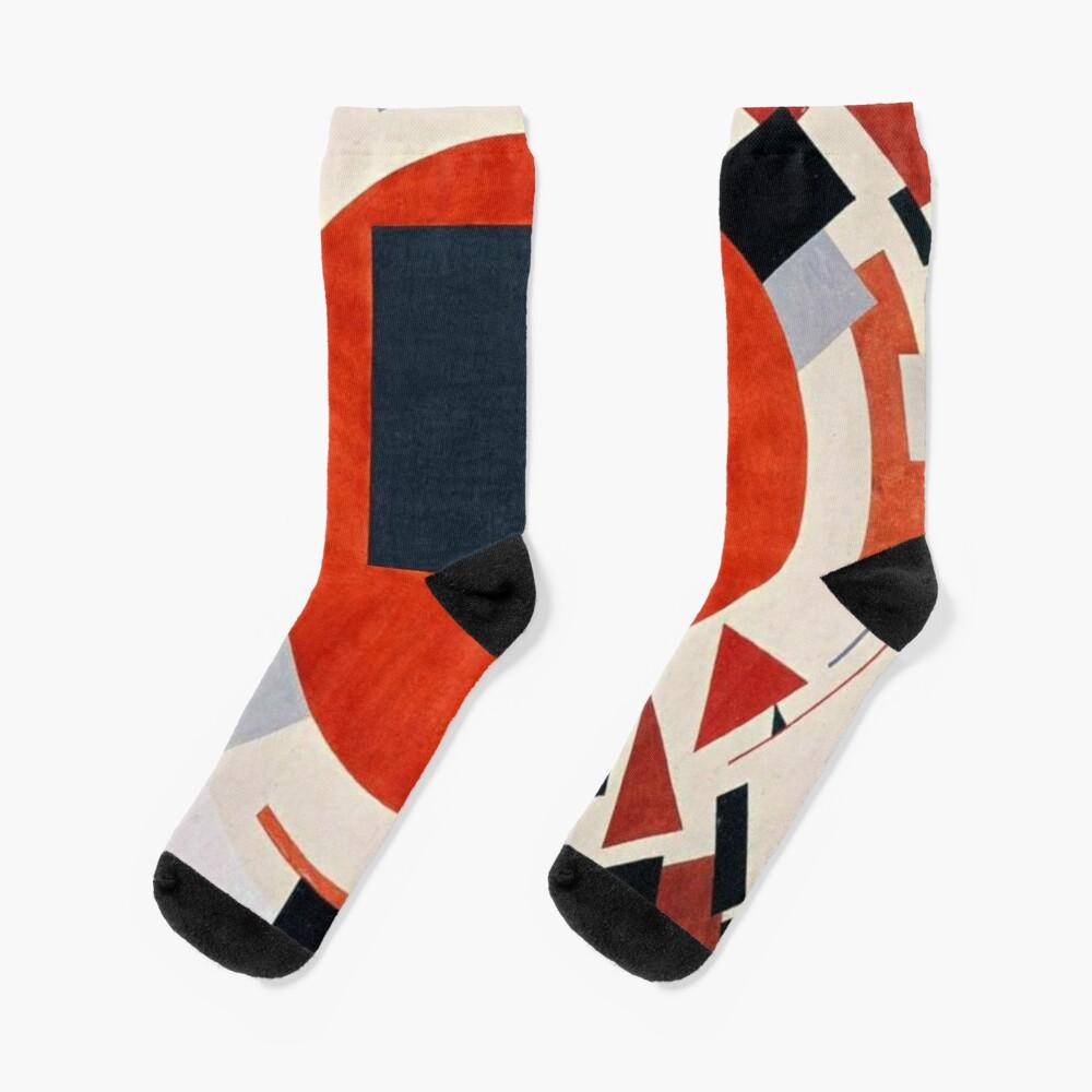 Lissitzky's Proun, ur,socks_flatlay_medium,square,1000x1000-bg,f8f8f8
