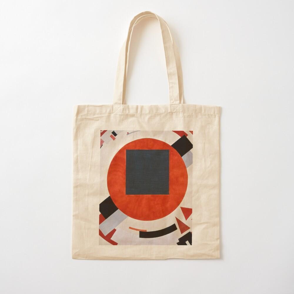 Lissitzky's Proun, ssrco,tote,cotton,canvas_creme,flatlay,square,1000x1000-bg,f8f8f8