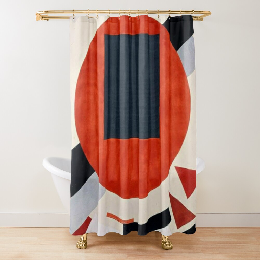 Lissitzky's Proun, ur,shower_curtain_closed,square,1000x1000