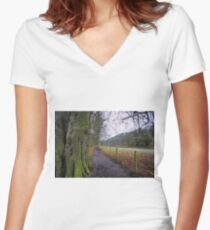 Easby Walks Women's Fitted V-Neck T-Shirt