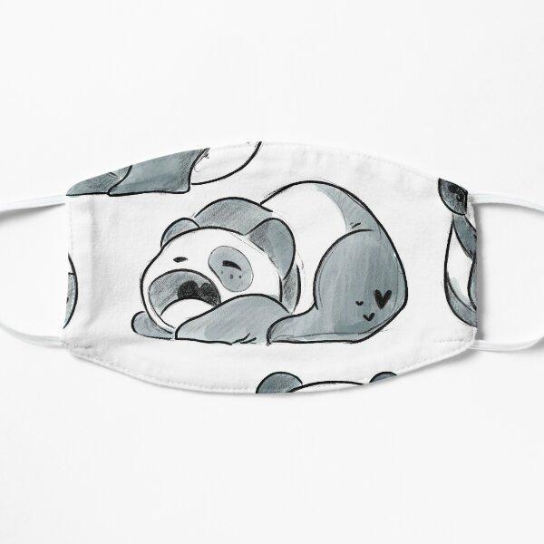 Set of Adorable Cute Illustrated Cartoon Panda Cubs Small Mask