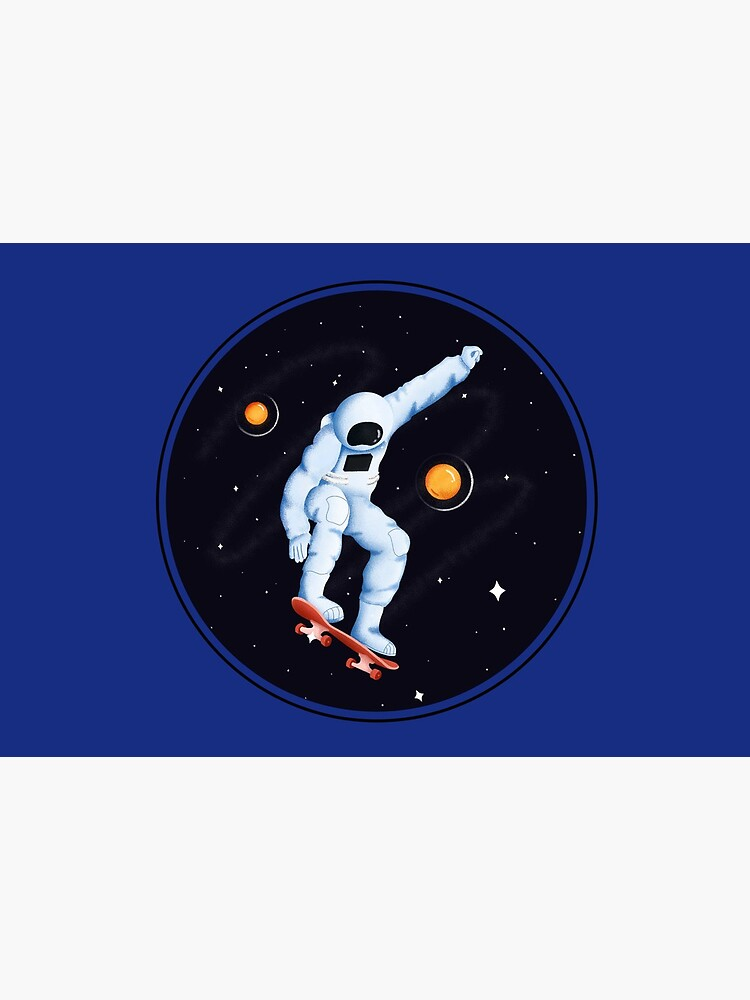 Astronaut on skateboard by ds-4