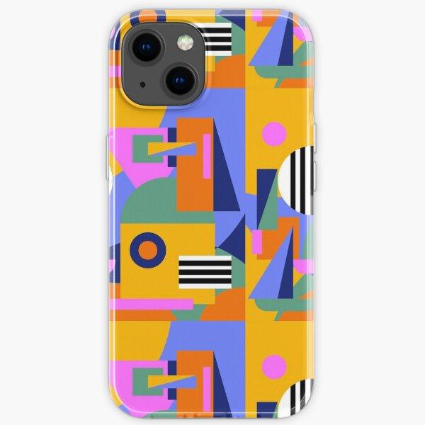 city scape pattern iPhone Soft Case