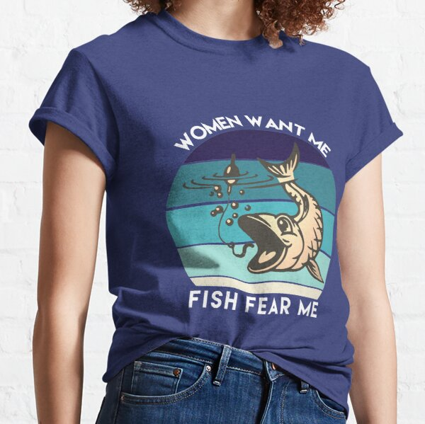 Funny couples design for fishing lovers  Classic T-Shirt