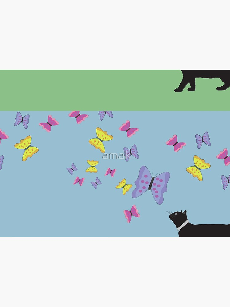 Cat and Butterflies by amak
