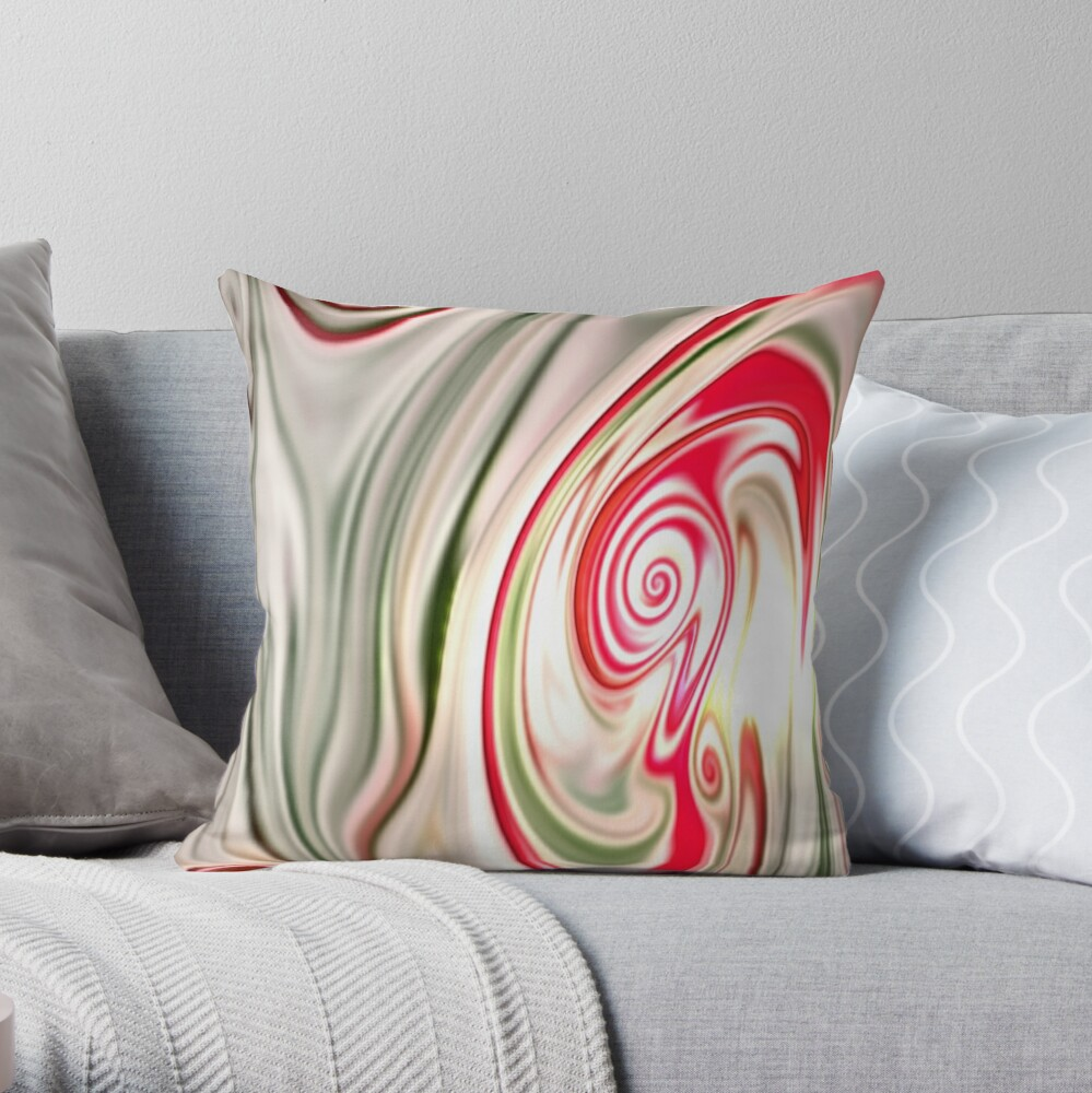 Multicolored unique everlasting pattern. Abstract watercolor new collection. |4| Throw Pillow