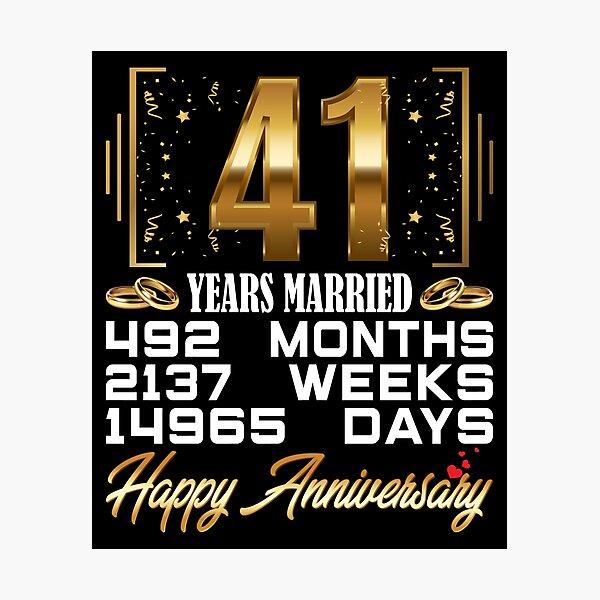 Hochzeitstag 41 Hochzeitstag