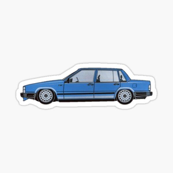 Volvo 740 stance bleu Sticker