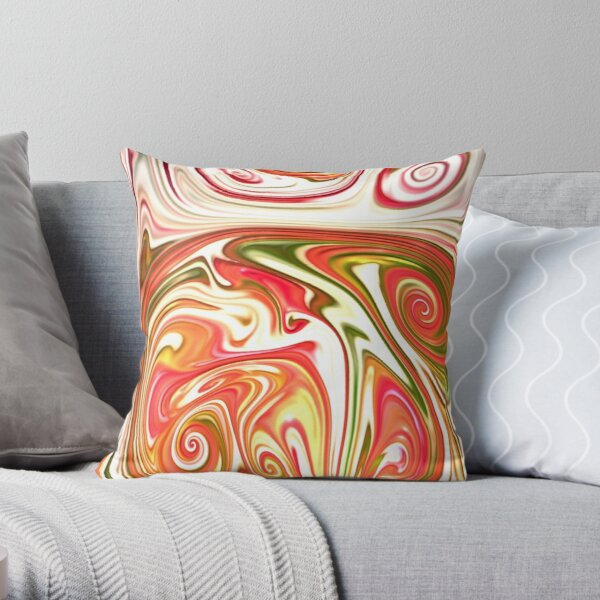 Multicolored unique everlasting pattern. Abstract watercolor new collection. |12| Throw Pillow